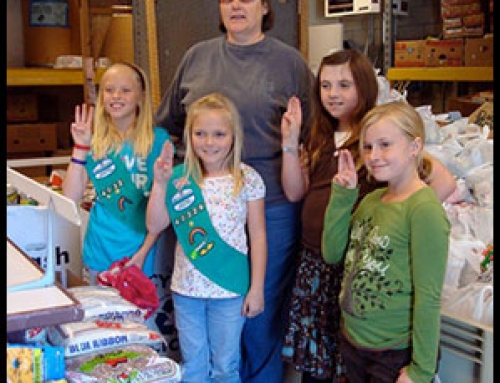 Girl Scouts Food Drive